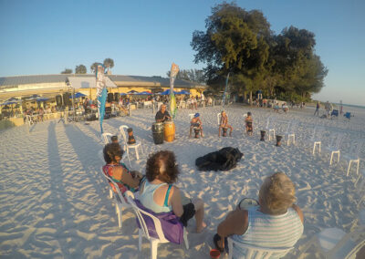 Anna-Maria-Island-Harbor-Lane-Court-Rental-drum-circle-on-the-beach