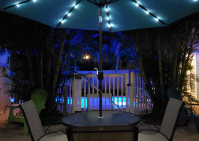 Anna-Maria-Island-Harbor-Lane-Court-Rental-patio-at-night