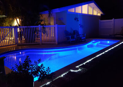 Slide Show Anna-Maria-Island-Harbor-Lane-Court-Rental-pool-at-night